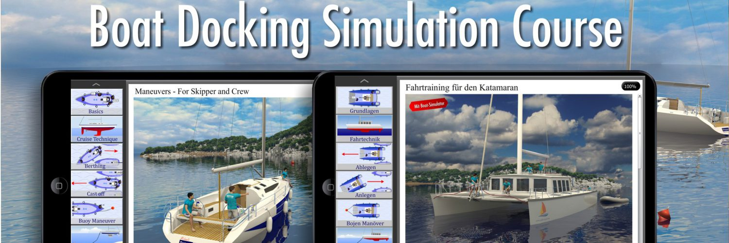 Boat Docking Simulation US-Version - Blue-2 The Sailing Academy