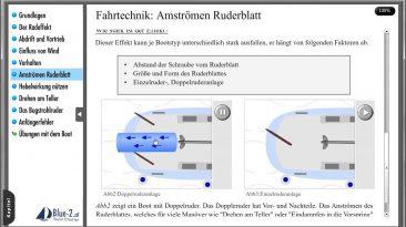 Lektion: Hafenmanöver – Anströmen des Ruderblattes